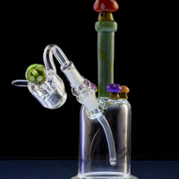 "Empire Glassworks ""Mushroom Kingdom"" Themed Mini Rig"