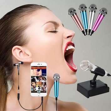 Mini Karaoke Condenser Microphone for Cellphone, Tablet, Laptop and PC, Mini Recording Microphone