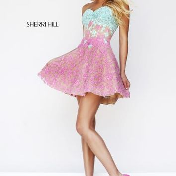 Sherri Hill Short Dress 11101 at Prom Dress Shop