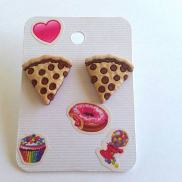 Pizza / Pizza accessories / earrings / Pizza earrings / pizza stud earrings / earrings / pizza jewelry / novelty / pizza gift ideas