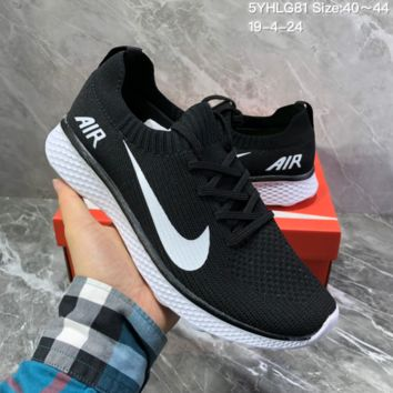 HCXX N1510 Off White for Nike Zoom Structure 34 All Out Flyknit Light Running Shoes Black White
