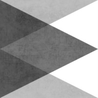 black and white triangles Art Print by Her Art