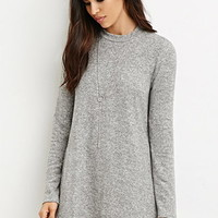 Marled Knit Mini Dress