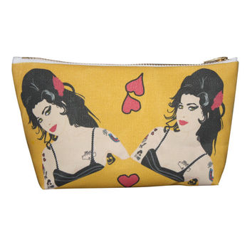 AMY WINEHOUSE makeup bag lil' purse... original illustration
