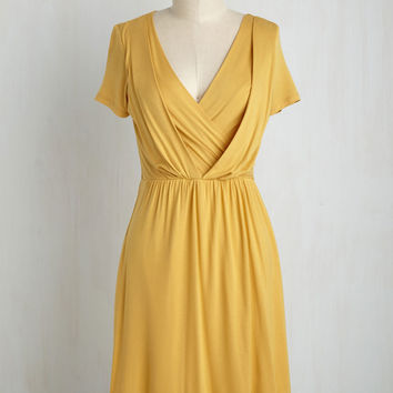 Apres la Soiree Dress in Marigold | Mod Retro Vintage Dresses | ModCloth.com