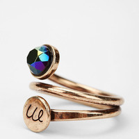 Urban Outfitters - Circling Initial & Stone Ring