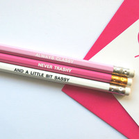 'Always Classy' Quote Pencil Gift Set
