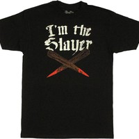 Buffy the Vampire Slayer I'm the Slayer Crossed Bloody Stakes T-Shirt