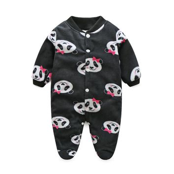 Cute Winter Baby Clothes Pajamas Newborn Baby Rompers Infant Long Sleeve Jumpsuits Boys Girl Spring Autumn bebes Clothes Wear