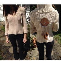 Cream dreamcatcher hooded swearer