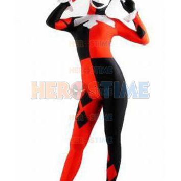 ICIKHY9 2016 Super Villain Harley Quinn Costumes Halloween Costumes For Women Cosplay Zentai Suit The Most Popular Free Shipping