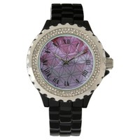 Pink rose and the flower of life watches