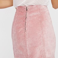 Free People Modern Femme Velvet Mini Skirt