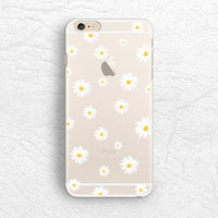 Cute Daisy flower matte transparent phone case for iPhone 6/6s, Nexus 6, Sony z3, HTC one M9, LG g3, Samsung S6 edge floral soft case -P37