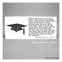 Baum, GRADUATION CARD, Wizard of Oz, inspiration card, congratulations, high school, college, literary quote