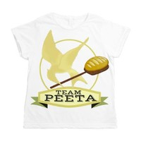 Team Peeta Women's All Over Print T-Shirt> Team Peeta, Boy With The Bread> Dave and Queenie's Gifts etc