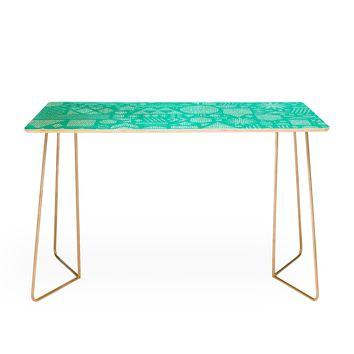 Nick Nelson Modern Elements In Turquoise Desk