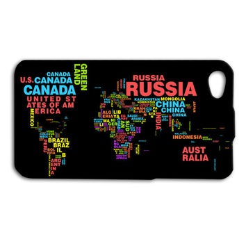 World Case Map Case Country Case iPod Case iPhone Case iPhone 4 iPhone 4s iPhone 5 Case iPhone 5s Case iPod 5 Case iPod 4 Case Cute Case