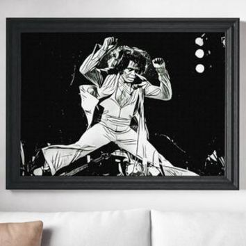 James Brown Poster Art Painting Print Canvas Print