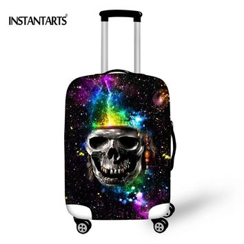 INSTANTARTS Thick Elastic Luggage Protective Covers Retro Punk Skulls Print Trolley Case for 18-30 Inch Suitcase Dust Rain Cover