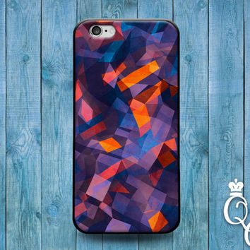 iPhone 4 4s 5 5s 5c 6 6s plus + iPod Touch 4th 5th 6th Generation Cute Custom Geometric Artistic Phone Cover Blue Purple Orange Pattern Case