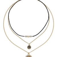 Circular Charm Choker Set - Accessories