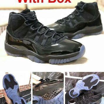 Air Jordan 11s Prom Night 11 Real Carbon Fiber Top Quality Gym Red Gamma Blue Midnight Navy Basketball Shoes Bred Concord With Box