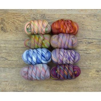 Paradise Fibers Bambino Range - Multi Color Merino/Bamboo Combed Top