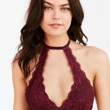 Out From Under Velvet and Lace Choker Bra - Urban Outfitters