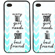 BFF Case / Short and Tall Bestie iPhone 4 Case Best Friends iPhone 5 Case iPhone 4S Case iPhone 5S Case One For Your BFF Set Phone Case Gift