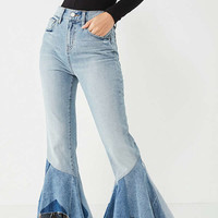 BDG Revamp High-Rise Patchwork Ruffle Jean | Urban Outfitters