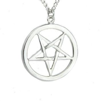 ac spbest Inverted Woven Pentagram Necklace Occult Ritual  Pendant Jewelry