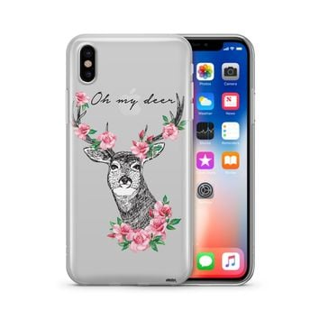 Oh My Deer - Clear Case Cover