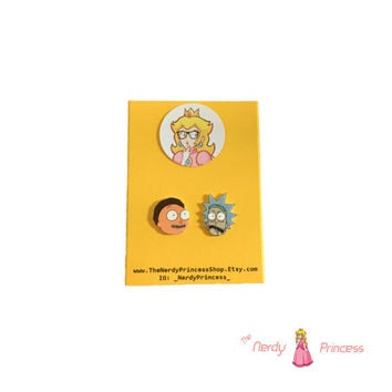 Rick and Morty Stud Earrings Earring Studs Cartoon Tv Show Characters