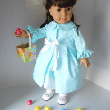 Easter Parade Two Piece Ensemble 18 Inch Doll Clothing Sewing Pattern PDF Digital Download