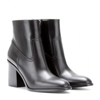 saint laurent - hunting leather ankle boots