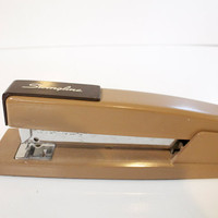 Vintage brown mid century Swingline stapler - Vintage office decor