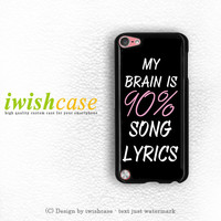 Cool Brain Song Music Cute Funny Quote iPod Touch 4 Case iPod Touch 5 Case