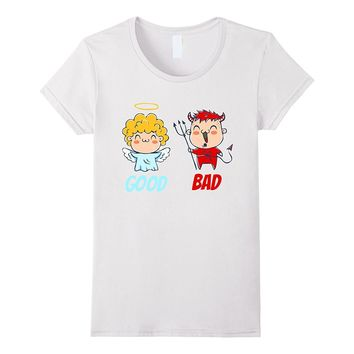 Angel and devil Good and bad Costumes angel and devil tee