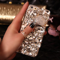 3D Luxury Diamond Crystal Bling Cell Case for iPhone 6 and iPhone 6s 4.7""