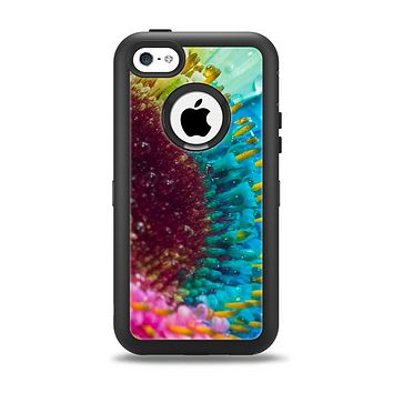 The Vibrant Colored Wet Flower Apple iPhone 5c Otterbox Defender Case Skin Set