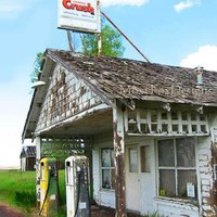 GAS STATION with Crush Drink Sign Fine Art Photo FREE US SHIPPING by MoxyFoxDesigns on Zibbet