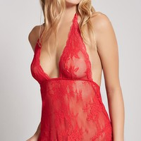 Sheer Open-Mesh Lingerie Set