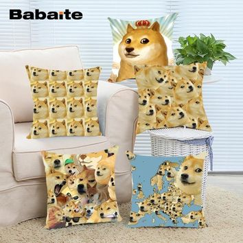 Babaite Funny Cute and Adorable Pet Doges Throw Pillow Case Covers Free Shipping Double-Side HD Printing Nice Bedding Set
