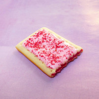polymer clay cherry pop tart magnet