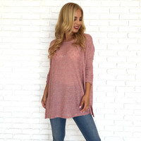 Small World Knit Tunic Top