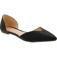 Women's Sueded D'Orsay Flats | Old Navy