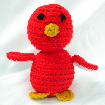 Crochet bird toy soft plush stuffed amigurumi by mamaducksdesigns