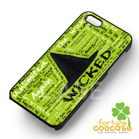 Broadway Musical Wicked The Musical Lyrics -tri for iPhone 4/4S/5/5S/5C/6/ 6+,samsung S3/S4/S5/S6 Regular/S6 Edge,samsung note 3/4