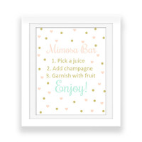 Mimosa Bar Party Decorations - Bubbly Bar Sign - Printables - Wedding Party Print - Bridal Shower Decor - Confetti Print - Digital Download